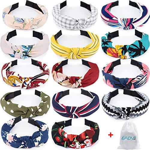 EAONE Women Floral Headbands Wide Turban Headband Knotted Headbands (14Pcs Floral Headbands)