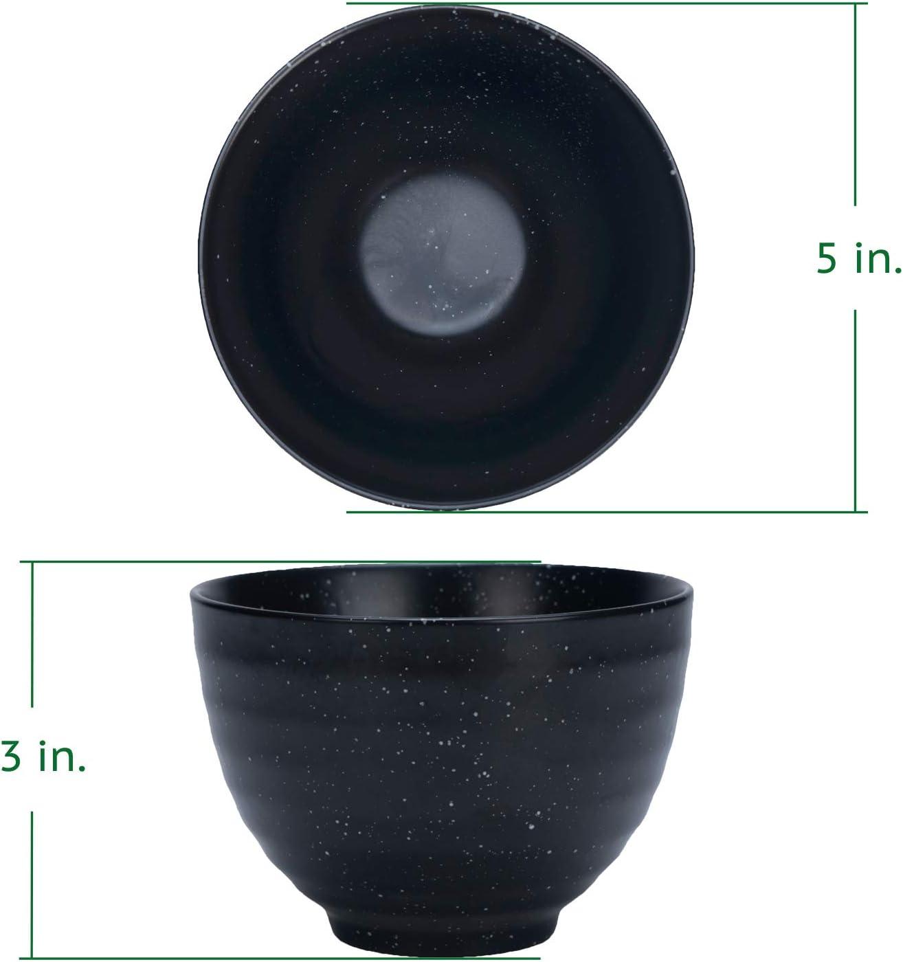 t/ägliche und zeremonielle Nutzung authentische asiatische Erfahrung Keramik robuste Keramik-Oberfl/äche klassischer japanischer Trinkbecher Schwarzer Matcha-Teesch/üssel