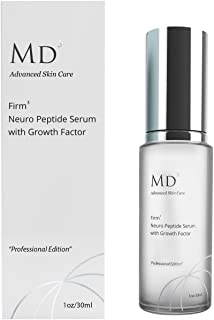 MD3 Advanced Skincare Firm 3 Reduce Pores and Minimize Wrinkles with Neuropeptide Serum for Firmer Skin. Epidermal Growth Factor (EGF) Boosts Skin Regeneration, Soothes and Hydrates 30ml
