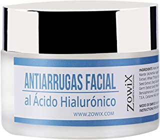 ZOWIX Crema Facial Antiarrugas para Piel Seca y Mixta. Crema Antiedad Hidratante y Nutritiva con Acido Hialuronico. Mujer...