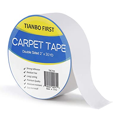 TIANBO FIRST Double Sided Tape Carpet Tape, Rem...