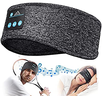 Sleep Headphones Personalised Gifts Sleepphones - Bluetooth Headband Sleep Headphones Wireless Sports Headband, Ultra-Soft Sleeping Headphones Built-in HD Stereo Speakers for Sports, Yoga, Sleepers by Hanpure