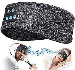 Ecouteur Sommeil Bluetooth 3 en 1: Facile à utiliser comme un casque de sommeil sans fil, un masque musical ou un bandeau de sport dans de nombreuses occasions comme les voyages en avion, le sommeil de nuit, la sieste au bureau, ou les sports d'entra...