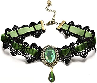 large green pendant necklace