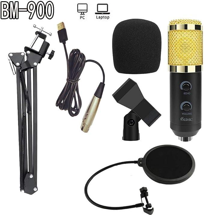Amazon Co Jp Ywrb Bm 900ポッドキャスト録音マイク付きプロフェッショナルコンデンサーメーカー放送マイクスタンド Color Black And Gold Å®¶é›» «メラ