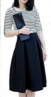 (グレースライフ) GraceLife プリーツ スカート エレガント お嬢さん系 (12: ネイビー Mサイズ)