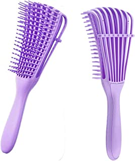 Detangling Brush for Curly Hair,Hair Detangler Brush for Afro Textured 3a to 4c Kinky Wavy for Wet/Dry/Long Thick Curly Ha...