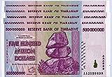 Zimbabwe 500 Millones de Dólares x 5 Notas 2008 UNC, récord mundial de inflación, billetes de banco