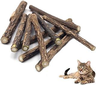 Pawstrip またたびトイ 猫おもちゃ 新鮮 またたびの木 10本 猫歯ぎしり棒 天然安全 100%無添加 純天然なマタタビ ストレス解消 肥満解消