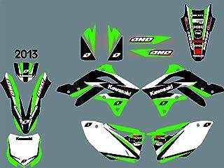 DST0396 Custom Kawasaki motorcycle Decal Kit Motorcross Graphics dirt bike Sticker for Kawasaki KXF450 2013 3M Adhesive Decals
