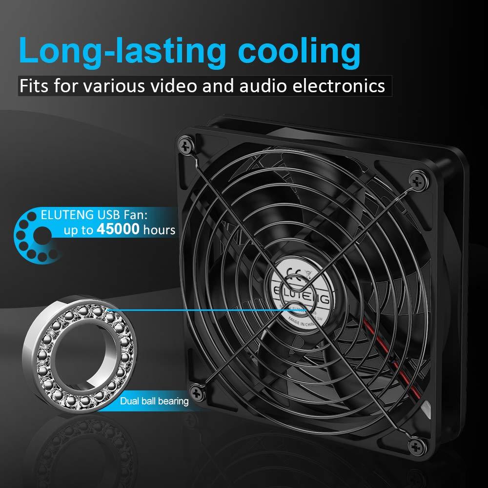 ELUTENG Ventilador USB 120mm con L/M/H 3 Velocidad Ventiladores de ...