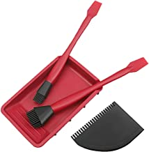 Houtbewerking Brush Tool Set, 4 Stuks Houtlijmborstelgereedschap, Siliconen Lijm Spreader Applicator Set Met Lijmbak Platt...