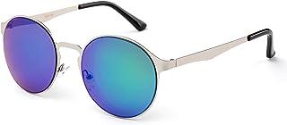 "Newbee Fashion -""Ibiza"" Flat Flash Lens Mirrored Antonella Style Sunglasses"