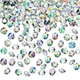 4000 Pieces Table Confetti Wedding Crystals Acrylic Diamonds Rhinestones Vase Fillers Decorations for Birthday Baby Shower Party Tables (Crystal AB, 6 mm)