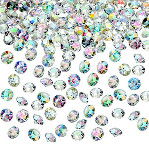 Hicarer 4000 Pieces Table Confetti Wedding Crystals Acrylic Diamonds Rhinestones Vase Fillers Decorations for Birthday Baby Shower Party Tables (Crystal AB)