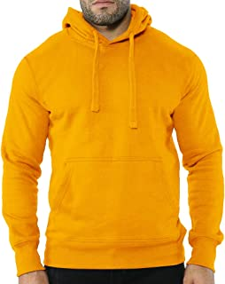 Men's Women Classic Hooded Sweatshirt Plain Hoodie UK Pullover Hood Kangaroo Pocket Casual Fit and Slim Fit