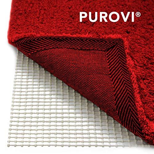 Purovi Rete antiscivolo per tappeti | Sottotappeto 200 x 80 cm | Ritagliabile | Protezione antiscivolo per tappeti