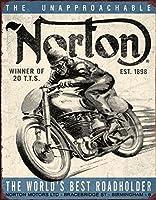 Norton★ノートン・WINNER★バイク系レトロ調★アメリカンブリキ看板