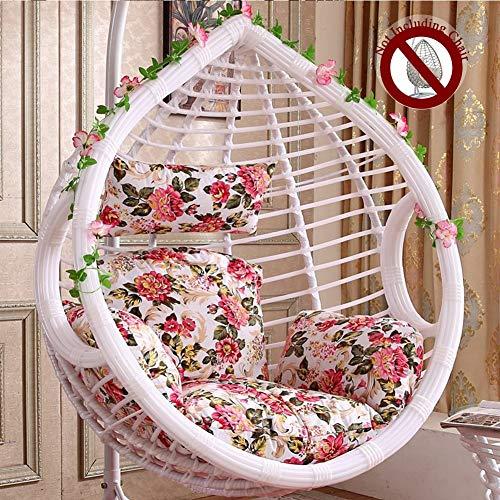 HYXQYYZZ stoel kussen, dikker mand schommelstoel pads hangstoel kussen rotan opknoping hangmat kussen enkele schommel stoel kussen met ergonomisch kussen