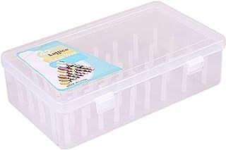 Perfeclan Boîte de Rangement en Plastique pour Broderie, Machines à Coudre - 42 Pièces Pilier Empêche Twining, Transparent