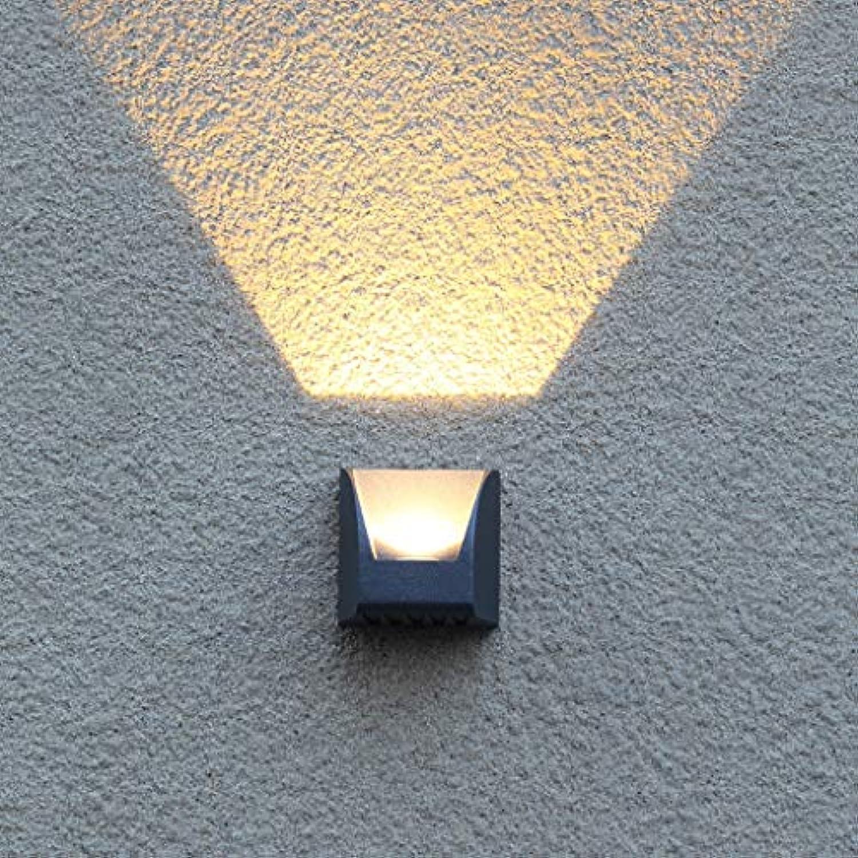 HWHQD Wandleuchten Wandleuchte 3W führte Auenwandleuchte Auenwandstrahler Wasserdichte Gartenlampe Wandleuchte 95  92  78mm, 88  124  78mm (gre   95  92  78mm)