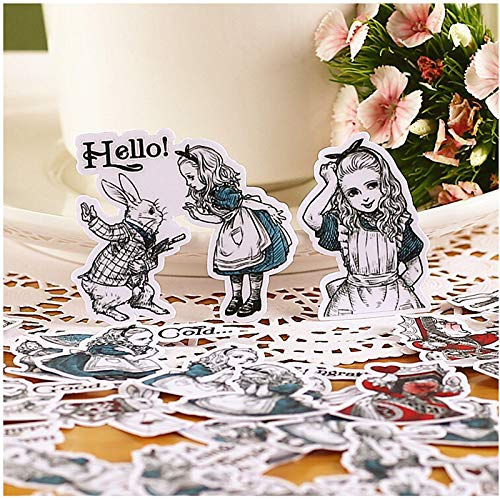 HENJIA Creative Cute Self-Made Girl Version Scrapbooking Aufkleber Dekorative Aufkleber DIY Craft Photo Albums38Pcs