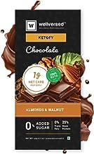 Ketofy - Almond & Walnut Dark Chocolate (50g) | Sugar Free Keto Chocolate | No Maltitol | Gluten Free | Vegan