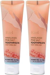 Rael Himalayan Pink Salt Toothpaste - Natural, Vegan, Paraben-Free, Anti-Cavity, Fresh Breath, Oral Care, F...