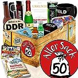 Alter Sack 50 / GeburtstagsGeschenk Mann DDR / Ostalgie Set für Männer