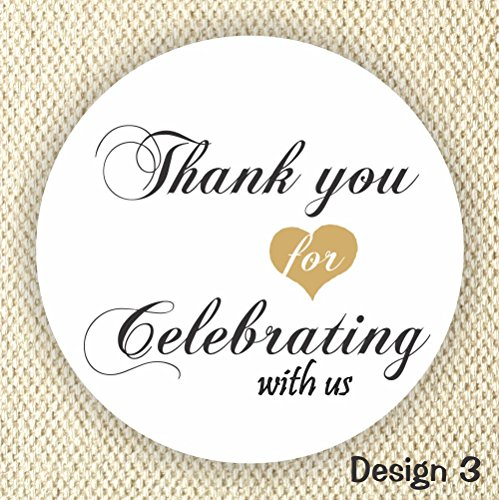 Thank You Stickers - Wedding Stickers - Anniversary Stickers - Favor Stickers - Favor Labels - Set of 40 Labels