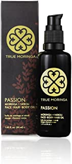 True Moringa Oil - 100% Pure Cold-Pressed Moringa Oil For Face, Body, Hair (50ml) - Passion, Neroli