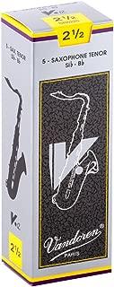 Vandoren SR6225 Tenor Sax V.12 Reeds Strength 2.5; Box of 5