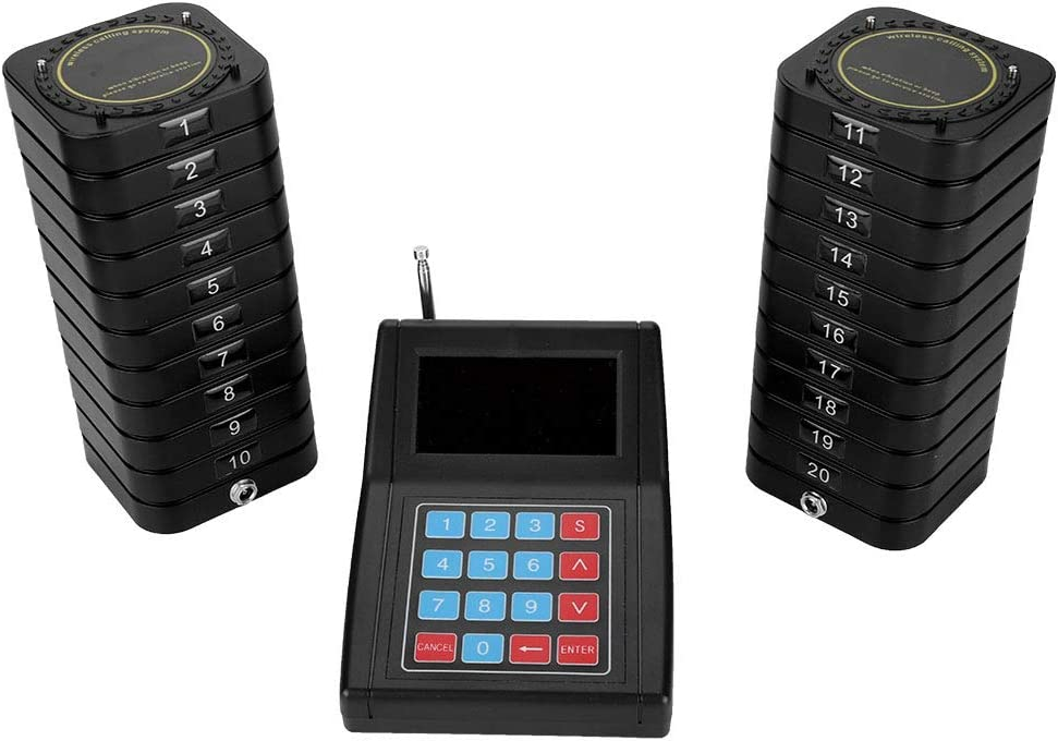 Limouyin Receivers Pager System for Restaurant Pa Guest Queuing Time sale New Free Shipping