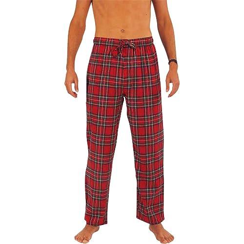 58f12e60c8 NORTY Mens Flannel Pajama Pants - Comfortable Cotton Bottoms Sleep  Loungewear