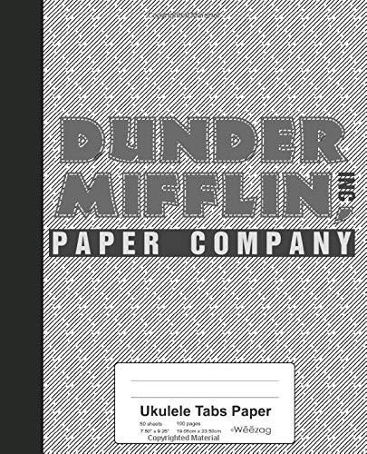 Ukulele Tabs Paper: Dunder Mifflin Paper Company Book (Weezag Ukulele Tabs Paper Notebook)