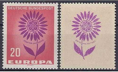 Goldhahn BRD Bund Nr. 446 postfrisch  Abbild der Blaume auf Gummi Briefmarken für Sammler
