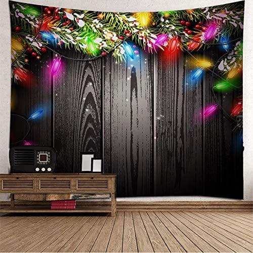 Aimsie - Tapiz de árbol de Navidad (poliéster, 350 x 256 cm), color negro