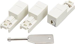 エレコム ネットワークセキュリティ RJ45コネクタジャック鍵付プロテクタ3個