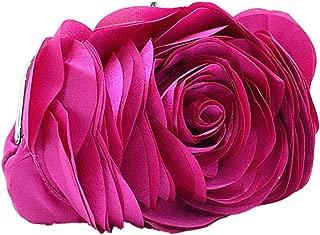 Bywen Womens Rose Pattern Purse Party Clutch Shoulder Bags
