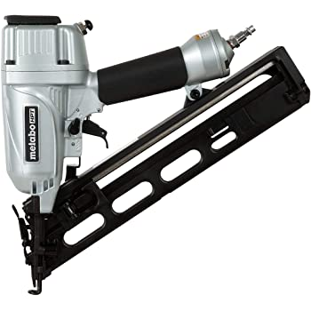Metabo HPT - NT65MA4M Finish Nailer, 15 Gauge, Pneumatic, Angled, Finish Nails 1-1/4-Inch up to 2-1/2-Inch, Integrated Air Duster, Selective Actuation Switch, 5-Year Warranty (NT65MA4)