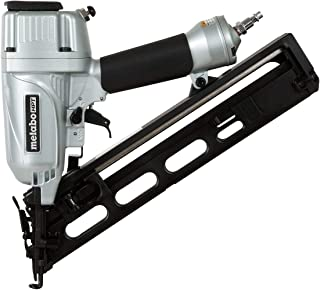 Metabo HPT Finish Nailer, 15 Gauge, Pneumatic, Angled, Finish Nails 1-1/4-Inch up to 2-1/2-Inch, Integrated Air Duster, Selective Actuation Switch, 5-Year Warranty (NT65MA4)
