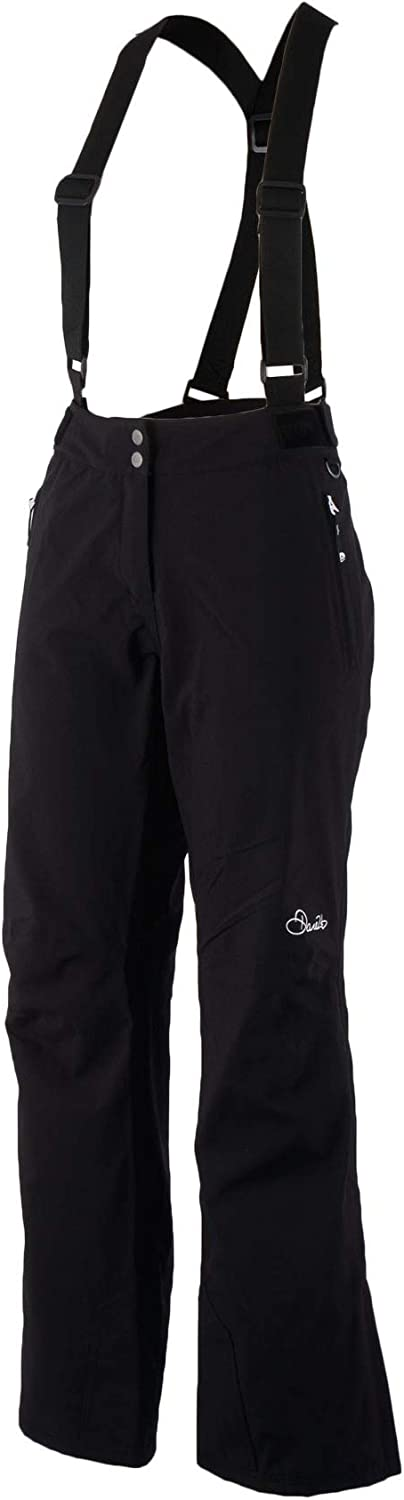 (Size 12, Black)  Dare 2b Women's Stand for Waterproof and Breathable Ski Pant Ii Salopettes