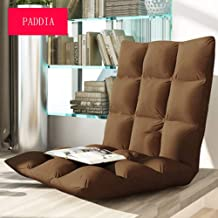 Paddia Foldable Single Sofa Bed Floor Chair Foldable Adjustable Backrest Comfortable Lazy Sofa Home Office Meditation Reading Lazy Couch Tatami Small Sofa Chair Single Folding Bed Chair Cushion Chair