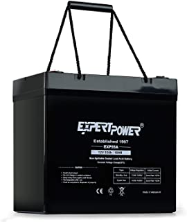 ExpertPower 12 Volt 55 Amp Deep Cycle Sealed Lead Acid Wheelchair Medical Mobility Rechargeable Battery