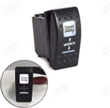 FidgetFidget 20A 12V ON-Off Rocker Switch White LED Light Winch for Can Am Maverick Commander
