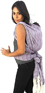 Baby wrap Carrier Mexican Hand Woven rebozo Sling (Purple)197