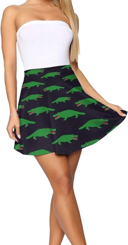 JJCSTE.C Color Dinosaurs Women's Skater Skirt Casual Short Skirt