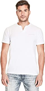 GUESS Factory Men's Conrad Layered Slit-Neck Tee