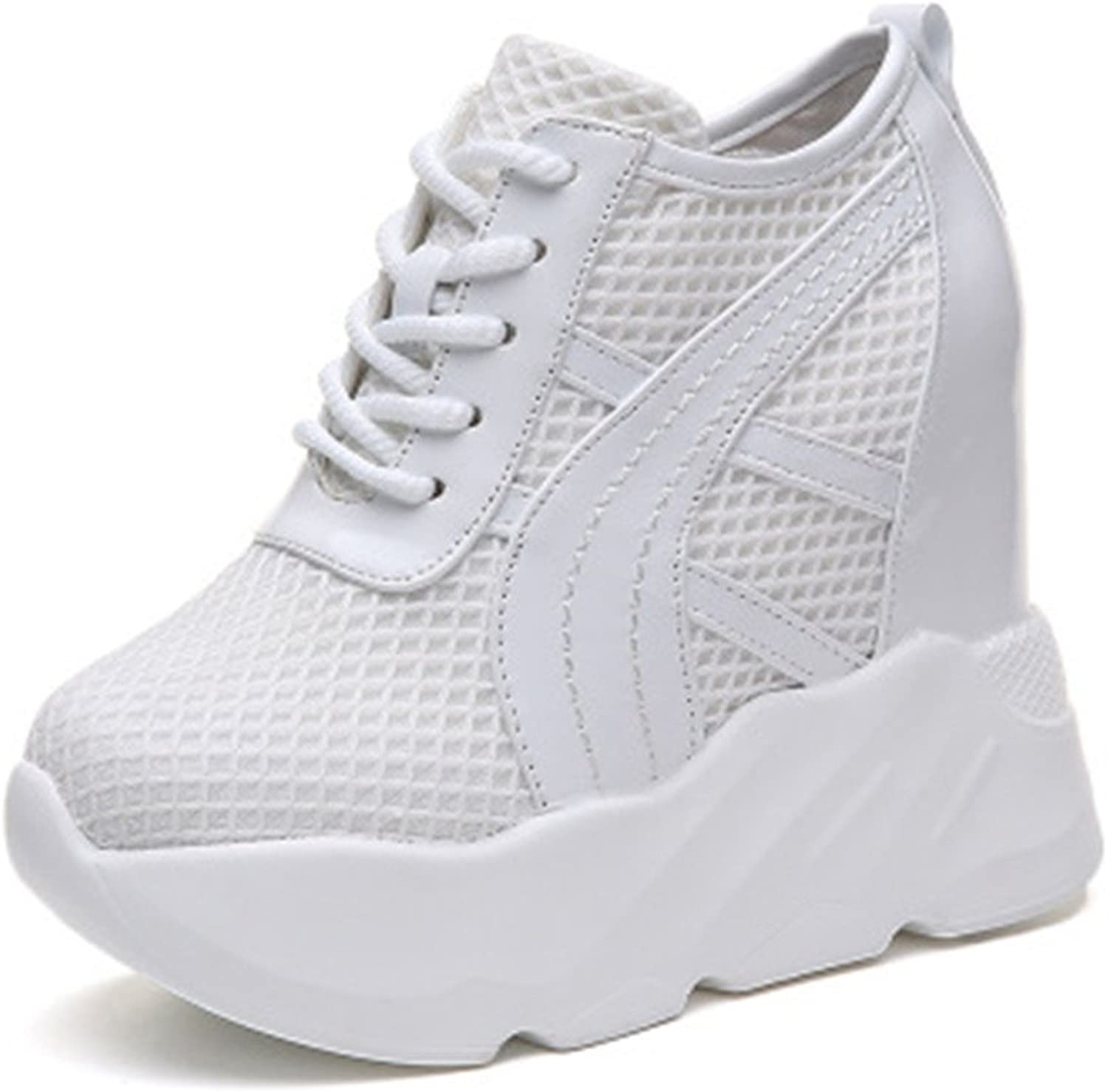Pit4tk Womens Breathable Casual Sneakers Platform Increasing Height Comfort Loafers shoes