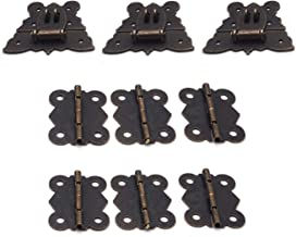 Antrader Furniture Hasp Latch Antique Style Lock Decorative Cabinet Jewelry Box Mini Clasp with Screws 12 Sets, Bronze Tone